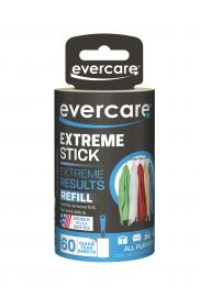 Evercare Garment Extreme Stick Lint Roll Refill, 60 Sheets